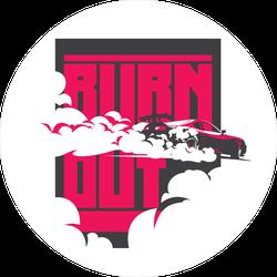 JDM Burn Out Car Sticker