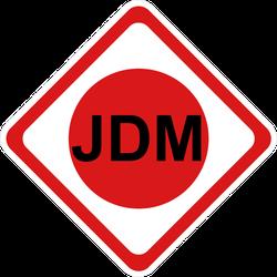 JDM Diamond Attention Sign Sticker