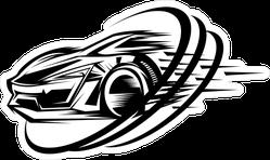 Jdm Sports Car Racing Design Sticker