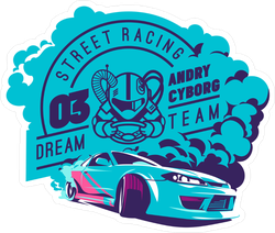 JDM Street Racing Dream Team Sticker