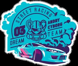 JDM Street Racing Dream Team Sticker