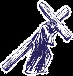 Jesus Carrying His Cross Sticker