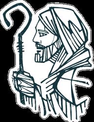 Jesus Christ Good Shepherd Sticker