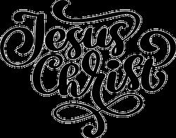 Jesus Christ Lettering Sticker