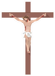 Jesus On The Cross Sticker