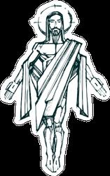 Jesus Resurrection Hand Drawn Sticker