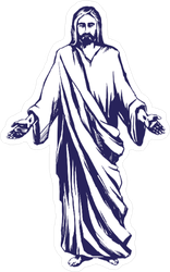 Jesus Standing with Hands out Sticker