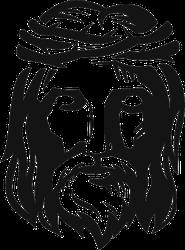 Jesus Wearing Thorn Crown Sticker
