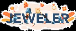 Jeweler Typographic Header Illustration Sticker