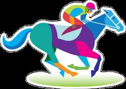 Jockey And Horse Sticker