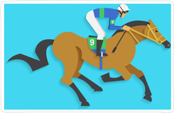 Jockey Riding Race Horse Sticker