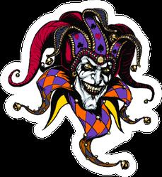 Joker. Angry Jester In The Cap Illustration Sticker