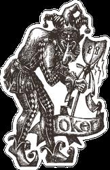 Joker Clown Or Theatre Icon Detailed Sticker