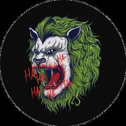 Joker Head Lion Sticker