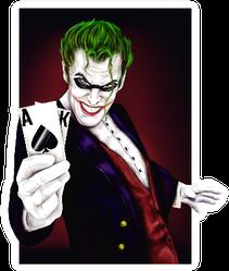 Joker Man With Cards In Hand Sticker