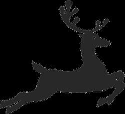Jumping Reindeer Sticker