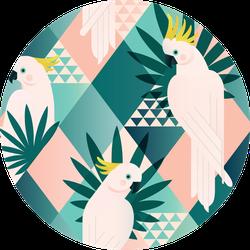 Jungle Cockatoo Wallpaper Print Pattern Sticker