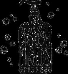 Just Wash Your Hands Sticker