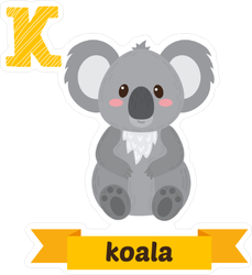 K is for Koala Sticker