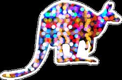Kangaroo Bubbles Lights Design Sticker