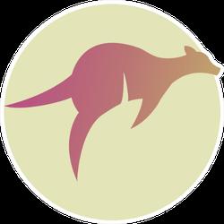 Kangaroo Gradient Australia Sticker
