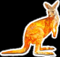 Kangaroo Wildlife In The Australian Bushfires In 2020 Sticker