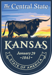 Kansas Banner Sticker