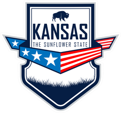 Kansas Bison Badge Sticker
