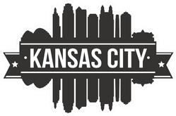 Kansas City Skyline Silhouette City Sticker