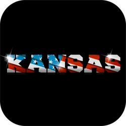 Kansas US Flag Sticker