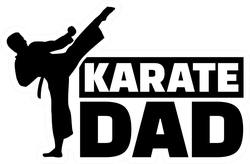Karate Dad Sticker