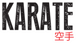 Karate Font, Karate Japan Sticker