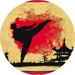 Karate Grunge Background Sticker