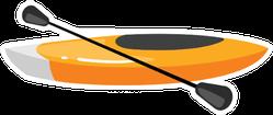 Kayak Illustration Sticker