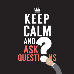 Keep Calm And Ask Questions Sticker