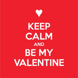Keep Calm and Be My Valentine Sticker