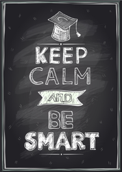 Keep Calm And Be Smart Sticker