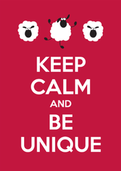 Keep Calm And Be Unique Sticker
