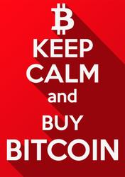 Keep Calm And Buy Bitcoin Sticker