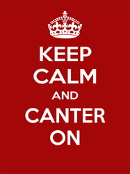 Keep Calm and Canter On Sticker