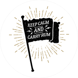Keep Calm and Carry Rum Pirate Flag Sticker