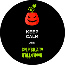 Keep Calm And Celebrate Halloween Sticker
