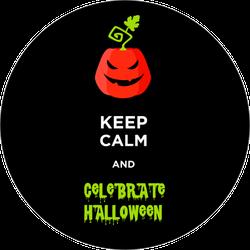 Keep Calm And Celebrate Halloween Sticker