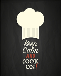 Keep Calm And Cook On Sticker