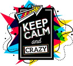Keep Calm and Crazy Sticker