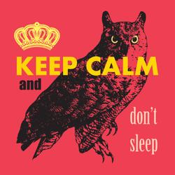 Keep Calm And Don't Sleep Sticker