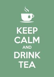 Keep Calm And Drink Tea Sticker