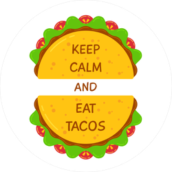 Keep Calm and Eat Tacos Sticker
