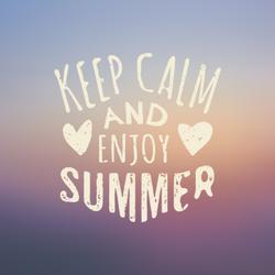 Keep Calm and Enjoy Summer Sticker