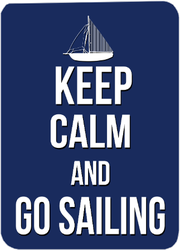 Keep Calm And Go Sailing Sticker